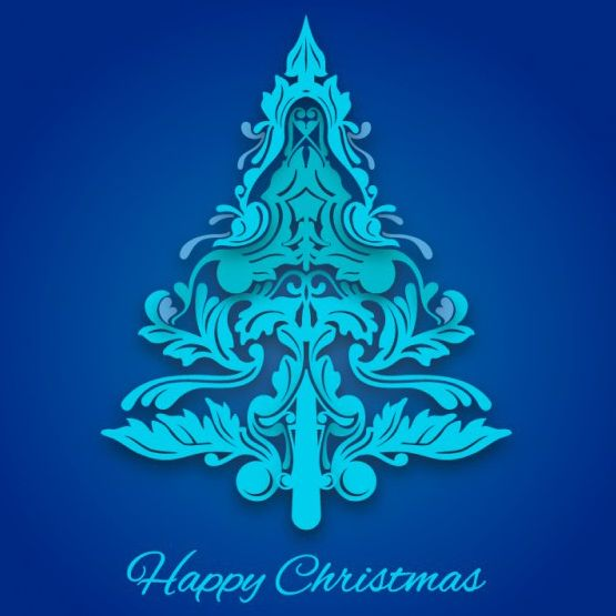 وکتور درخت کریسمس artistic christmas tree vector