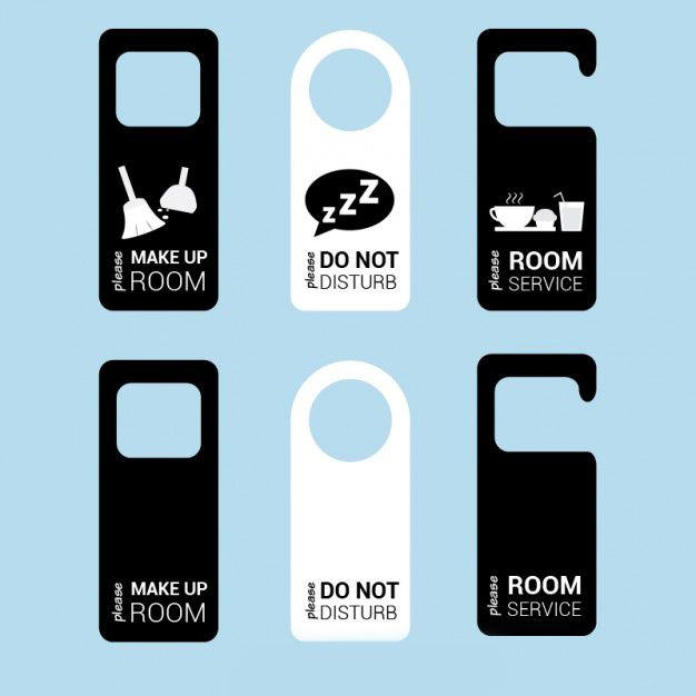 وکتور جاکلیدی door tags hotel room vector