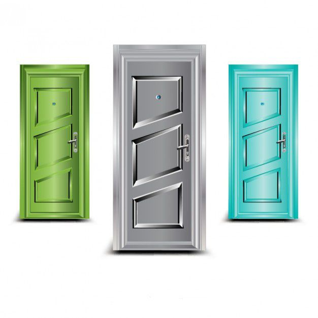 وکتور درهای تکی doors vector illustration set