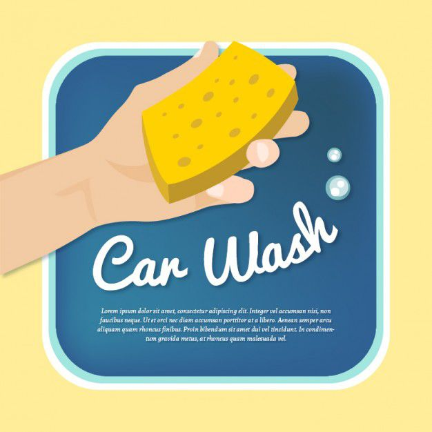 وکتور کارواش car wash template vector