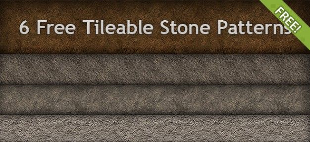 6 نوع پترن سنگی 6 free tileable stone patterns