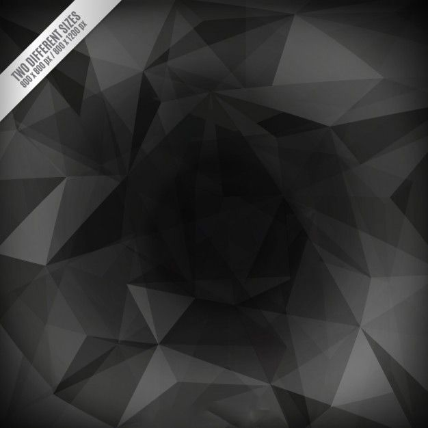 وکتور ابسترک مشکی dark polygonal background