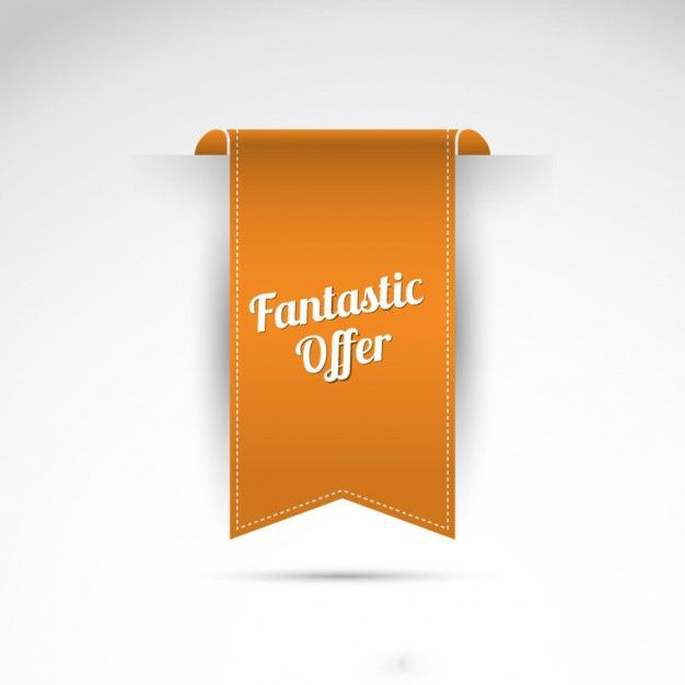 وکتور لیبل fantastic offer label vector