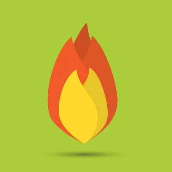 وکتور آتش vector flame flat design