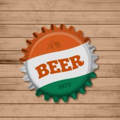 وکتور درب بطری beer bottle cap