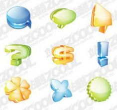 سمبل های گرافیکی سردgraphical symbols theme cool icon psd layered material