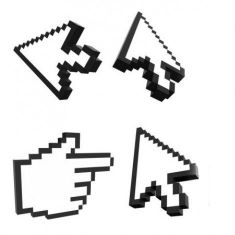 مکان نمای سه بعدی three dimensional arrow gesture icon