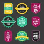 وکتور لیبل vintage sales badges