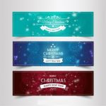 بنر ویژه کریسمسvintage christmas and new year banners
