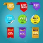 وکتور لیبل promotion price tags vector