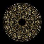 وکتور حاشیه طلایی رومی